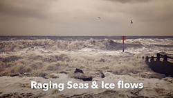 Raging Seas & Ice Flows Video about North Sea Threat to the Alde & Ore Estuary in Suffolk by Tony Pick